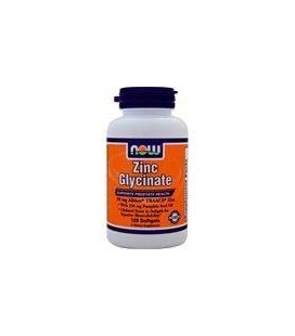 Now Foods Zinc Glycinate 30mg Soft-gels, 120-Count
