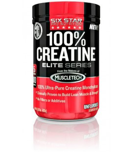 Six Star Pro Nutrition Elite Series 100% Creatine, 400 Gram Powder- Unflavoured US