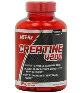 MET-Rx Creatine 4200 Diet Supplement Capsules, 240 Count