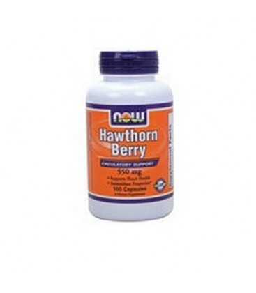 NOW Foods Hawthorn Berry, 100 Capsules / 550mg (Pack of 4)