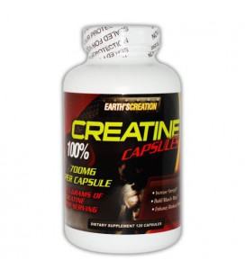Creatine 100% - 700mg per capsule - 120 Capsules by Earth's Creation