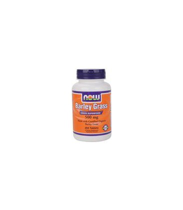 Now Foods Organic Barley Grass 500mg, Tablets, 250-Count