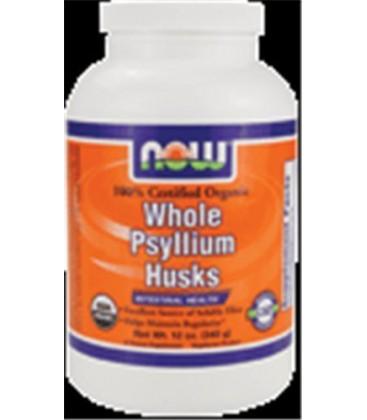 Now Foods Organic Psyllium Husk Whole, 12-Ounce