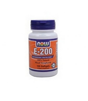 NOW Foods E-200 Mixed Tocopherols, 100 Softgels (Pack of 3)