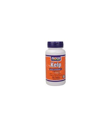 Now Foods Kelp, 150mcg of Natural Iodine, 200 Tablets, (Pack of 2)