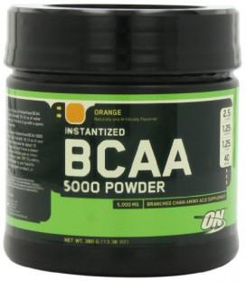 Optimum Nutrition Instantized BCAA Powder, Orange, 5000 mg, 380 Gram