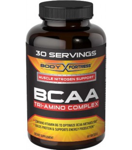 Body Fortress BCAA Tri-Amino Complex Nutritional Supplement, 30 Servings, 60 Count