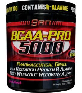 SAN BCAA-Pro 5000, Aspartame Free, Fruit Punch 340 Grams