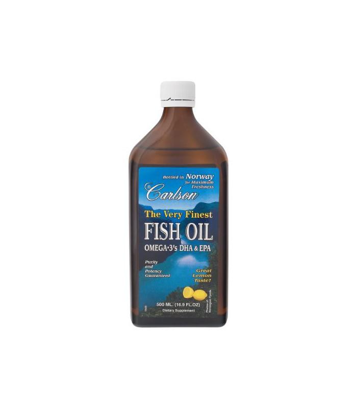 Carlson the very finest fish oil liquid omega 3 lemon 500ml for Omega 3 fish oil liquid