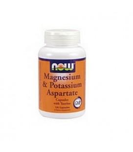 NOW Foods Magnesium and Potassium Aspartate W/ Taurine, 120 Capsules (Pack of 2)