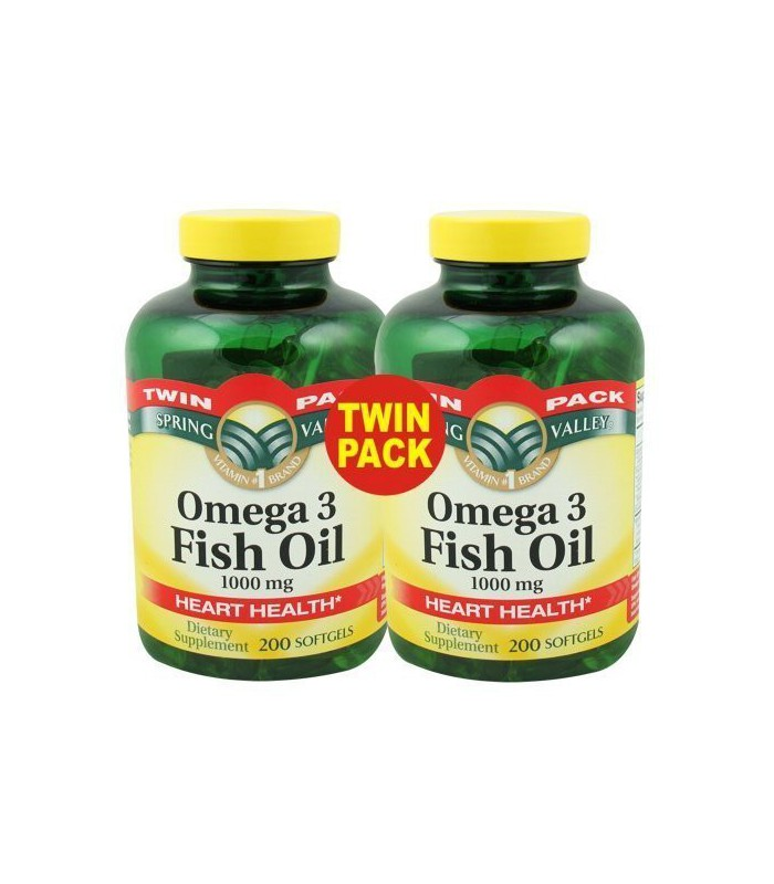 Spring Valley Fish Oil Omega 3 1000 Mg 400 Softgels Twi