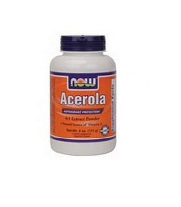 NOW Foods Acerola 4:1 Extract Powder, 6 Ounces (Pack of 2)
