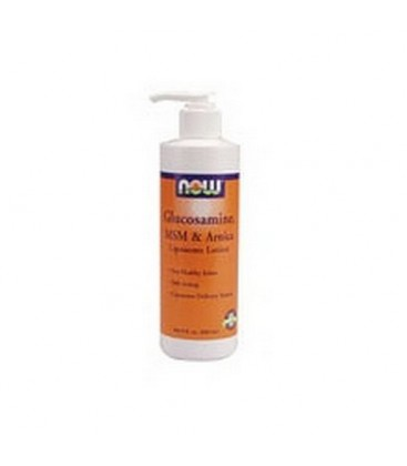 NOW Foods Glucosamine, Msm, Arnica Lotion, 8 Ounces (Pack of 2)