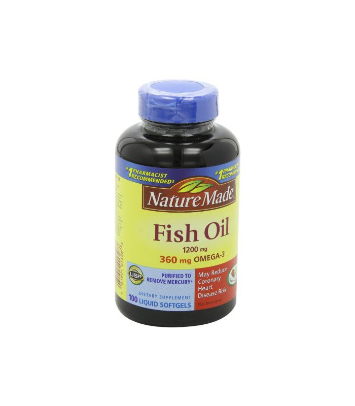 Nature made fish oil omega 3 1200mg 100 softgels for Nature made fish oil 1200 mg 360 mg omega 3