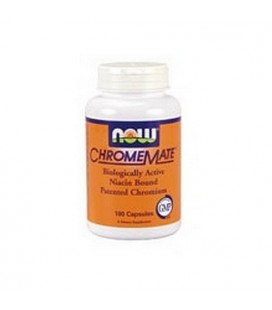 NOW Foods Chromemate, 180 Capsules (Pack of 2)