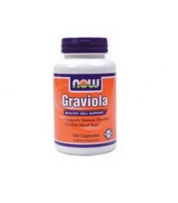NOW Foods Graviola, 500mg / 100 Capsules (Pack of 2)