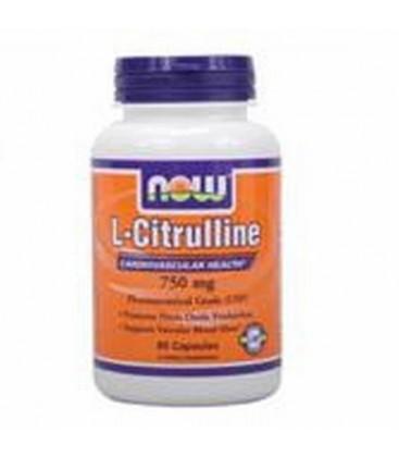 NOW L-CITRULLINE 750 mg - 90 capsules - USP Pharmaceutical Grade