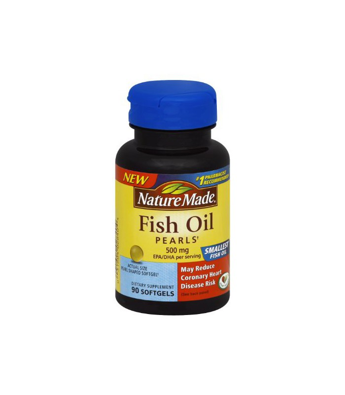 Nature made fish oil pearls 500 mg softgel 90 count for Nature made fish oil pearls