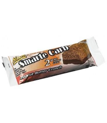 NuGo Smarte Carb Bar, Peanut Butter Crunch, 1.76-Ounce Bars