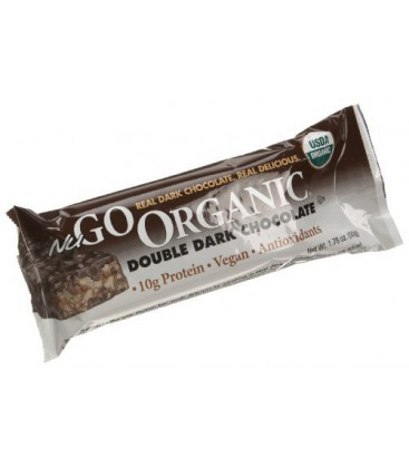 NuGo Organic Nutrition Bar, Dark Double Chocolate, 1.76-Ounc