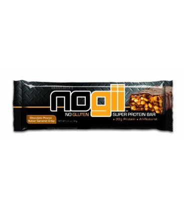 Nogii Super Protein Bar, Chocolate Peanut Butter Caramel Cri