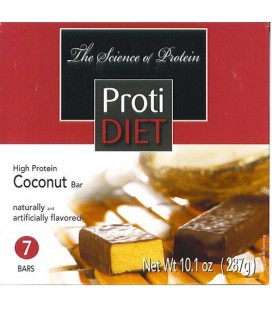 Protidiet Coconut (With Chocolate) High Protein Bars (Box of