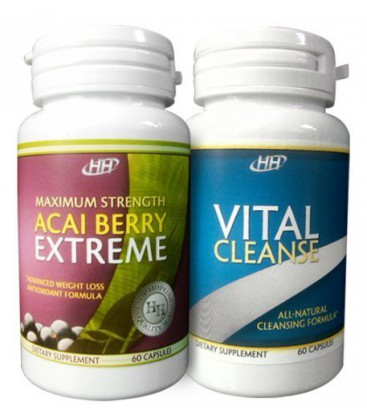 Maximum Strength Acai Berry Extreme / Vital Cleanse - With G