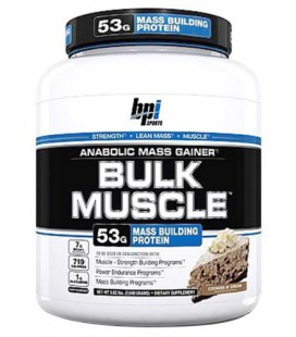 BPI Bulk Muscle Protein Powder, Cookies and Cream, 5.82 Pound