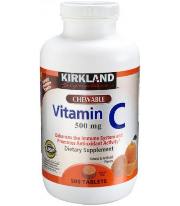 Kirkland Vitamin C (500 mg), 500-Count, Tangy Orange, Chewa