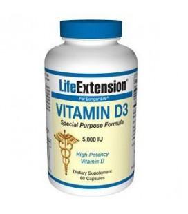 Life Extension Vitamin D3, 5000 IU, 60-Count
