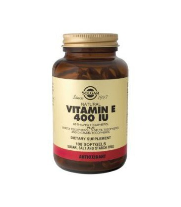 Solgar - Vitamin E, 400 IU, 100 softgels
