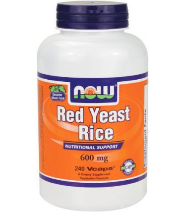 NOW Foods Red Yeast Rice Extract 600mg, 240 Vcaps