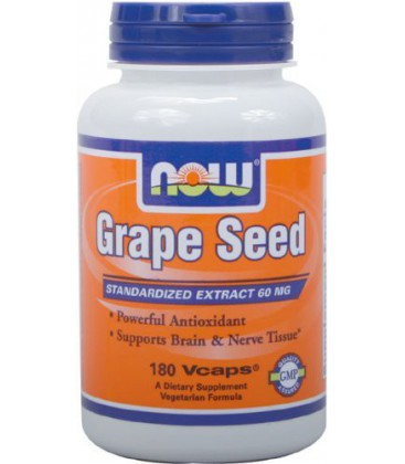 NOW Foods Grape Seed Anti 60mg, 180 Vcaps