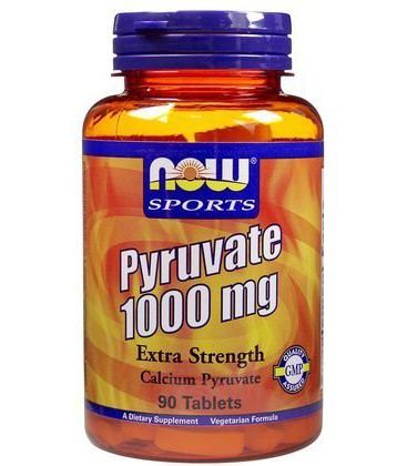 NOW Foods Pyruvate 1,000 mg Tabs, 90 ct (Pack of 2)