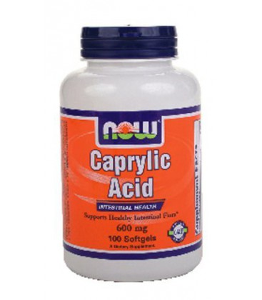 Now Foods Caprylic Acid 600 mg - 100 Softgels ( Multi-Pack)