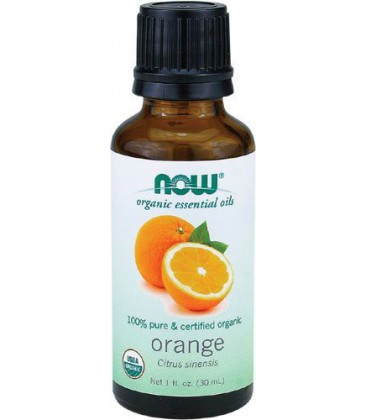 Now Foods Organic Orange Oil, 1-Ounce (Pack of 2)