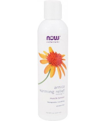 NOW Foods Arnica Warming Relief Massage Oil, 8 ounce