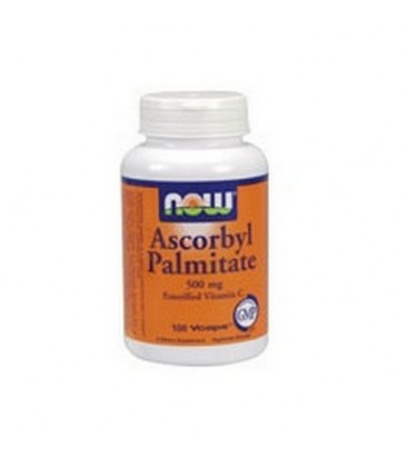 NOW Foods Ascorbyl Palmitate, 500 Mg, 100 Capsules (Pack of 2)