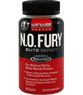 Six Star Pro Nutrition Nitric Oxide Fury, Elite Series 60 Caplets