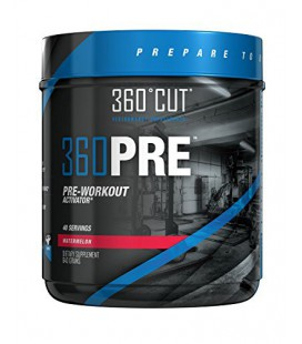 360CUT 360PRE, Great Tasting Pre-Workout Activator for Optimal Muscle Fullness and Pumps, Watermelon, 40 servings
