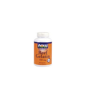 Now Foods Beef Gelatin 550mg, Hydrolyzed, Capsules, 200-Count
