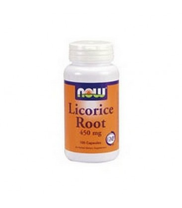 NOW Foods Licorice Root,   450mg, 100 Capsules (Pack of 3)