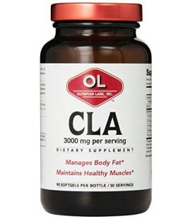 Olympian Labs CLA, 3000 mg, 90 Softgels, Glass