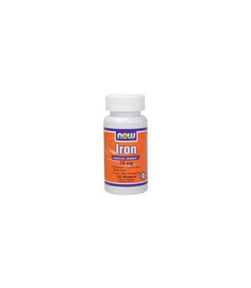 Now Foods Iron 18mg Ferrochel, Veg-capsules, 120-Count