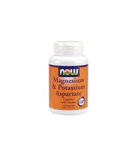 Magnesium & Potassium Aspartate with Taurine by Now Foods 120 Capsules