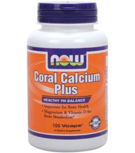 NOW Foods Coral Calcium Plus Mag, 100 Vcaps,