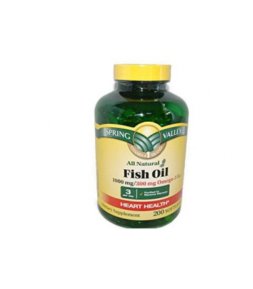 Spring Valley All Natural Fish Oil Heart Health 1000 Mg 300