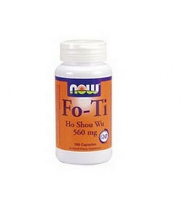 NOW Foods Fo-Ti,  Ho Shou Wu, 560mg, 100 Capsules ,  (Pack of 3)