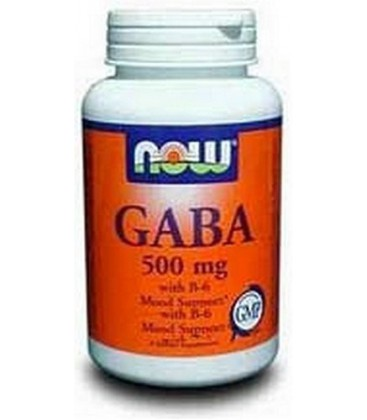 NOW Foods Gaba 500mg, 100 Capsules (Pack of 2)