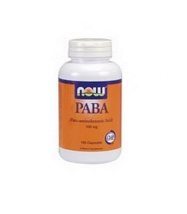 NOW Foods Paba, 100 Capsules / 500mg (Pack of 3)